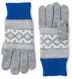 Classic Girls Fair Isle Knit Gloves-Gray/Ivory Geo Fairisle
