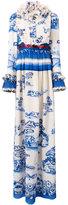 Gucci Porcelain garden print dress - women - Silk - 42