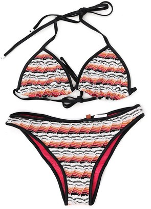 Missoni Mare Colour Block Crochet Two-Piece Bikini