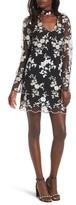 WAYF Women's Romy Choker Mesh Minidress
