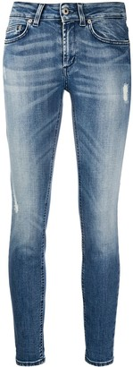 Dondup Distressed-Effect Slim-Fit Trousers