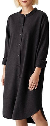 Eileen Fisher Mandarin Collar Shirtdress
