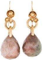 Saint Laurent Agate Arty Flower Earrings