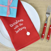 Ellie Ellie 'Christmas With The...' Personalised Napkins