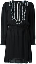 RED Valentino contrast ruffled collar dress