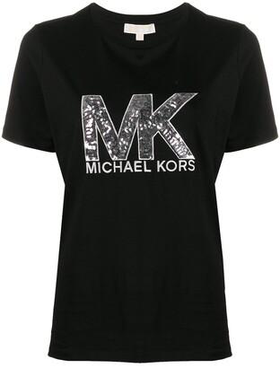MICHAEL Michael Kors sequin logo T-shirt