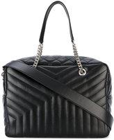 Saint Laurent large LouLou Monogram tote bag - women - Cotton/Leather - One Size