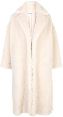PARTOW textured wool-blend coat