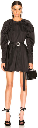 Rotate by Birger Christensen Puff Sleeve Belted Mini Dress in Black | FWRD