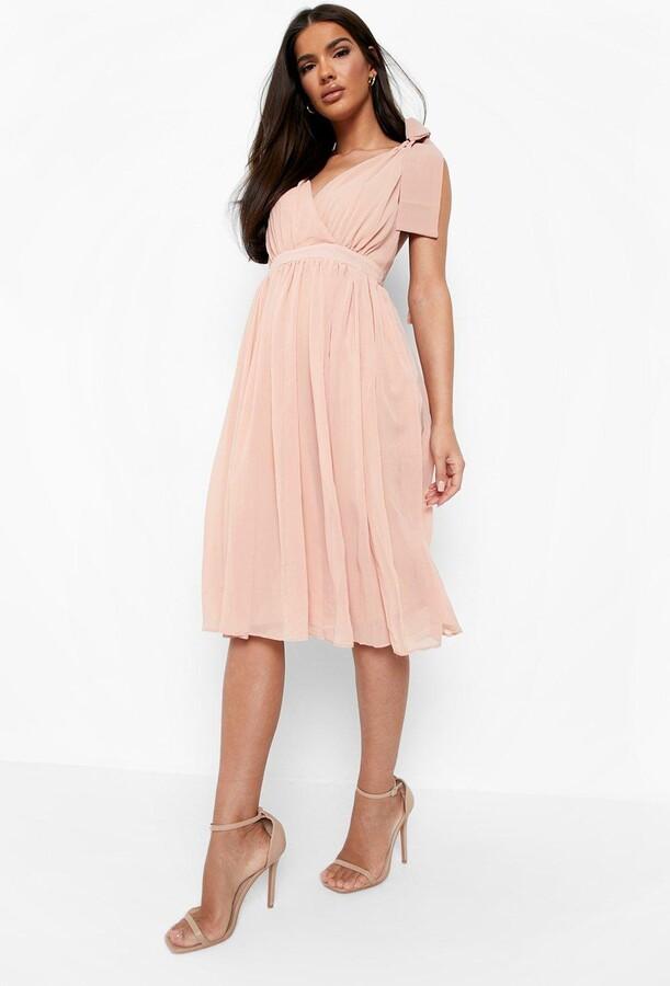bae2f18b8f9b Boohoo Pleated Midi Dress - ShopStyle UK