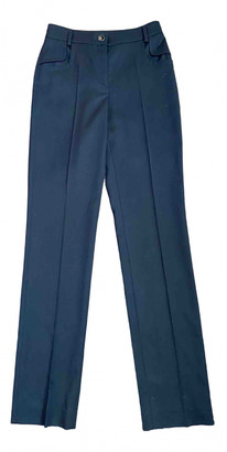 Chanel Navy Wool Trousers