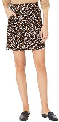 J.Crew Buckle Miniskirt in Leopard (Ivory/Brown) Women's Skirt