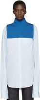 Enfold Blue Wool Turtleneck Collar