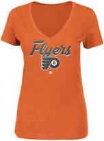 Majestic Women's Philadelphia Flyers Match Penalty Glitter T-Shirt