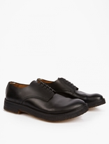 Officine Creative Black Leather Derby Shoes