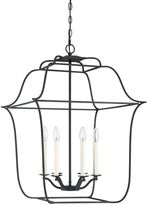 Quoizel Gallery Cage Chandelier in Ebony