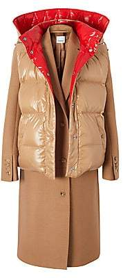 Burberry Women's Cashmere Coat With Convertible Puffer Vest