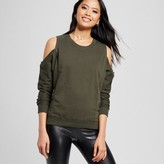 Alison Andrews Women's French Terry Cold Shoulder Sweatshirt Olive