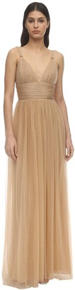 Maria Lucia Hohan Fabiana Long Crystal Tulle Dress