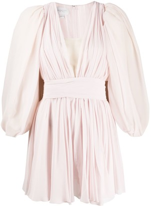 Giambattista Valli Puff Sleeves Mini Dress