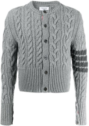 Thom Browne Aran cable-knit cashmere cardigan