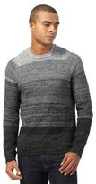Red Herring Black Ombre Textured Jumper