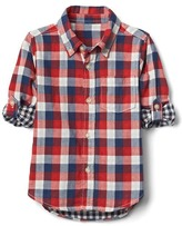 Gap Check double-woven convertible shirt