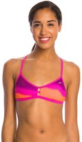 Speedo Turnz Tonal Wave Printed Fixed Back Bikini Swimsuit Top 8146381