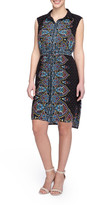 Tahari Paisley Print Shirt Dress