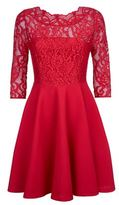Claudie Pierlot Rhodes Lace Bodice Dress