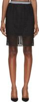 Denis Gagnon Black Lattice Mini Skirt