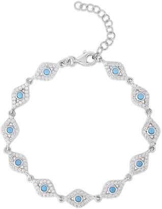 Sphera Milano Plated Evil Eye Bracelet
