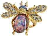 Kenneth Jay Lane Goldtone Bug Crystal Multi Color Adjustable Ring 3356RGOP