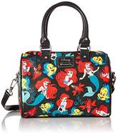 Loungefly Little Mermaid Classic Print Pebble Crossbody Duffle