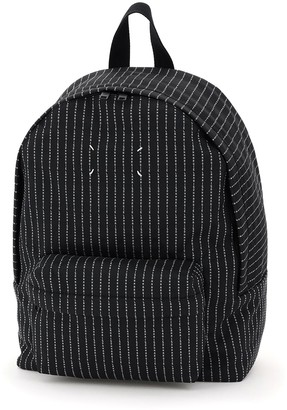 Maison Margiela Logo Striped Backpack