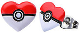 Pokemon Enamel Pokeball Heart-Shaped StainlessSteel Earrings