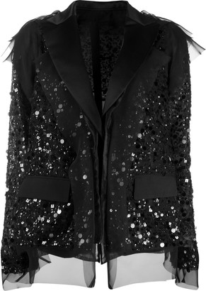 Sacai Sequinned Organdy Deconstructed Jacket