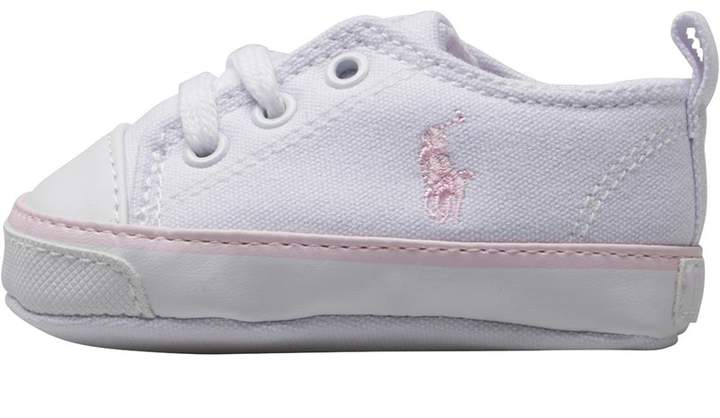 Ralph Lauren Baby Girls Bal Harbour Crib Shoes Pink/Navy