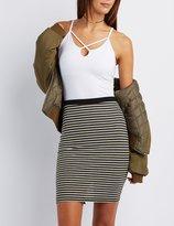 Charlotte Russe Strappy Notched Tank Top
