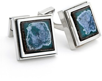 Ike Behar Ceramic Square Cuff Links