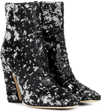 Jimmy Choo Mirren 100 sequined ankle boots