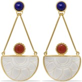 Mother of Pearl Opera Coral, Lapis & Earrings
