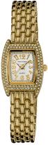 Vernier Crystal & Goldtone Classic Feminine Bracelet Watch