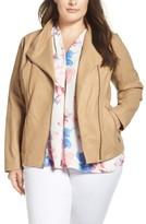 Andrew Marc Plus Size Women's Felicia Leather Moto Jacket