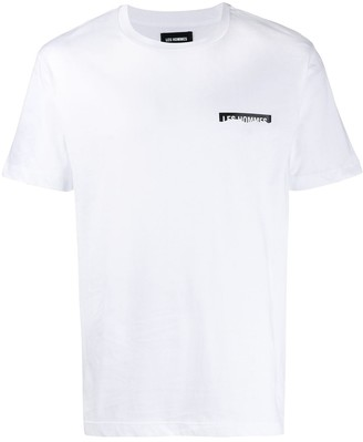 Les Hommes torn logo T-shirt