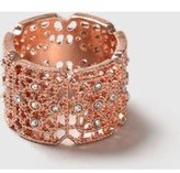 Dorothy Perkins Womens Defined Filigree Band Ring- Clear