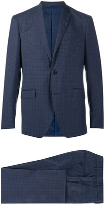 Etro Check Pattern Wool Suit