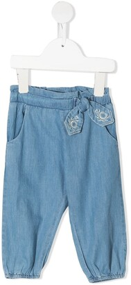 Chloé Kids Embroidered Elasticated Waistband Jeans