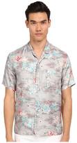 Marc Jacobs Mellow Meadow Silk Classic Short Sleeve Button Up