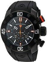 Swiss Legend Men's 'Lionpulse' Quartz Stainless Steel and Silicone Watch, Color:Black (Model: 10616SM-BB-01-OA)